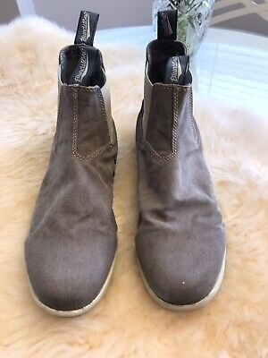 Mens military shoes work pull on leather Chelsea outdoor ankle boots US Sz7-12@f