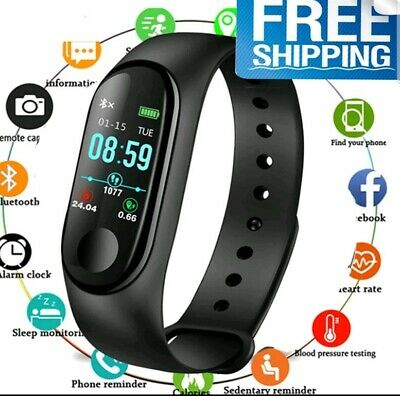 Fitness Orologio Bluetooth Braccialetto Intelligente UNISEX  Per Android iOS