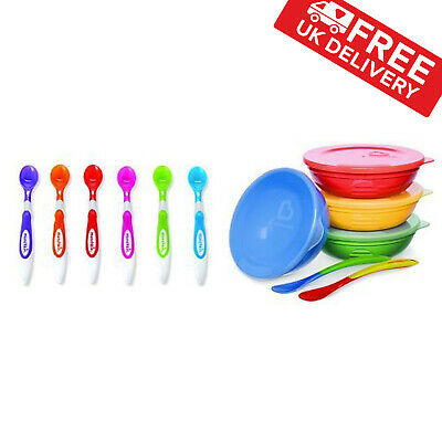 Munchkin Love a Bowls Bowl and Spoon Set with Soft Tip Infant Spoons for Kids
