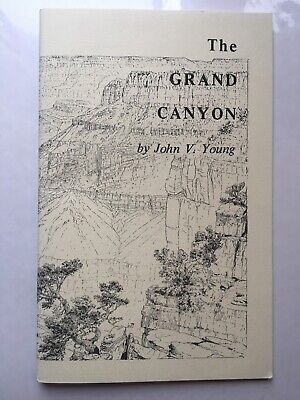 Vintage 1969 The Grand Canyon Book With Maps  By John V Young  Rare
