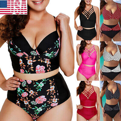 0b61b7cc7f Women Plus Size Sexy Solid Bikini Fashion New Brazilian Swimwear BeacH  Swimsuit