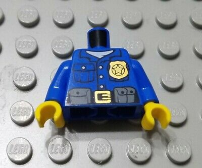 ☀️NEW Lego Torso City Blue Police Uniform Officer Detective Badge Minifigure