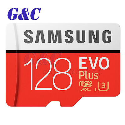 SAMSUNG EVO Plus 128GB microSD SDHC SDXC Memory Card with SD Adapter
