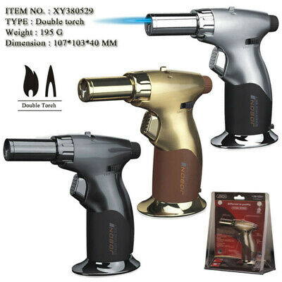 Jobon Windproof Jet/Normal Flame Adjustable Torch Refillable Cigar Gas Lighter