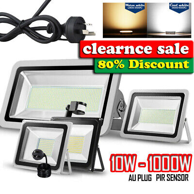 10W-1000W LED Outdoor Flood Light PIR Motion Sensor AU Plug 240V FREE SHIPPING
