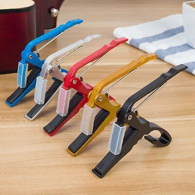 Accessories Aluminum Alloy Guitar Tuner Clamp Professional Key Trigger Capo fD
