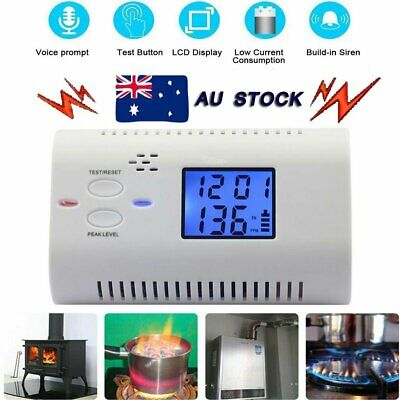 LCD Digital CO Alarm Detector Voice Carbon Monoxide Sensor Warning Monitor New