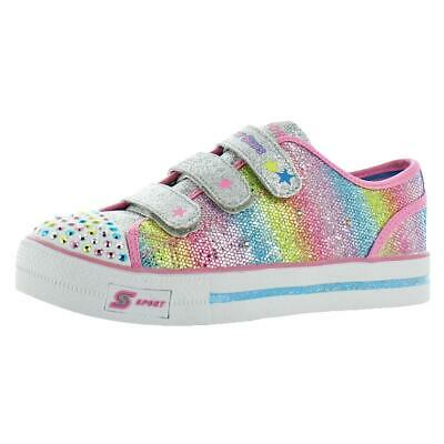 5caa69f07c6 SKECHERS GIRL'S EXPRESSIONISTA Blue/Neon Pink Light Up Sneakers ...