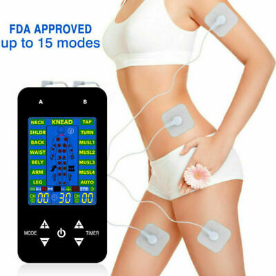 Tens Unit Electronic Pulse Massager, Muscle Stimulator For Therapy Pain Relief