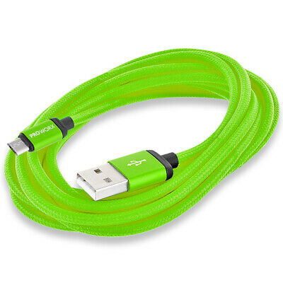 PROWORX Green 10ft Long USB Charger Cable for Sony Playstation 4 PS4 Controller