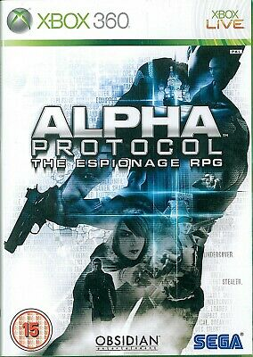 Alpha Protocol Microsoft Xbox 360 15+ RPG Role Playing Game