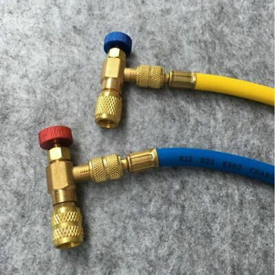 2Pcs R22 R410A Safety Valve Air Conditioning Quick Coupler Adapters Connector