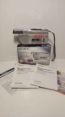 Sony Microcassete Recorder M-200MC Boxed Manuals Zoom Microphone Tested A1