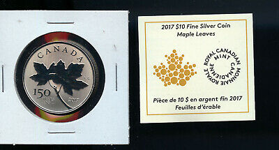 2017 Canada $10 150Th Annv Silver Maple Leaf Leaves  A511