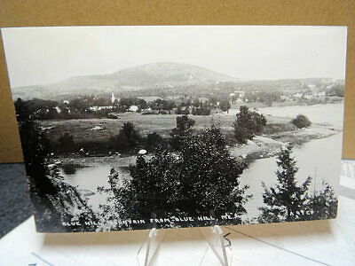 RPPC Photo Postcard Blue Hill Mountain From Blue Hill Maine