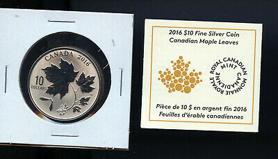 2016 Canada $10 Silver Maple Leaves A519