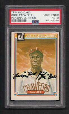 James Cool Papa Bell Signed 1983 Donruss Card-PSA/DNA Baseball Hall Fame Heroes
