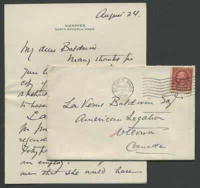 1929 Letter from MARIE FREEMAN-THOMAS, MARCHIONESS OF WILLINGDON Ottawa Canada