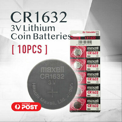 10x CR1632 CR 1632 3v lithium Battery button cell coin f watches stock In Mel