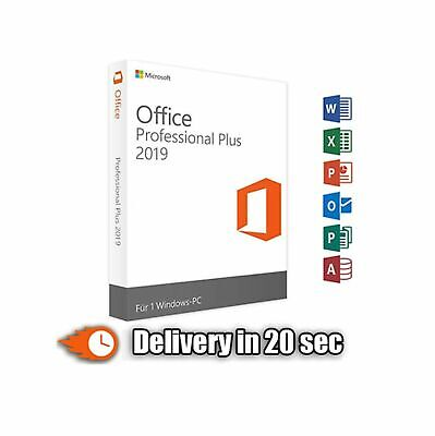Microsoft Office 2019 Pro Plus Professional Key| Lifetime License For Windows ✅