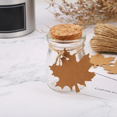 Hang Tags Kraft Paper Label Maple Leaf Tags Gift Package Tags Party Decor CB