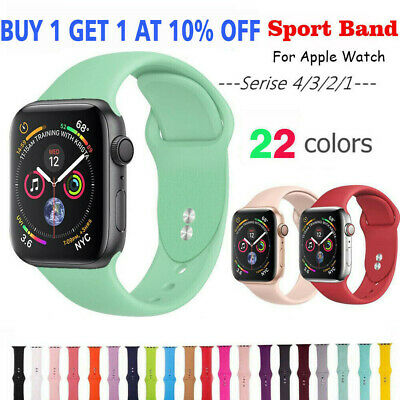 Silicone Braclet Watch Band Strap for Apple Watch iWatch Series 1/2/3/4 38/42mm