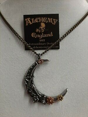 """Alchemy Gothic Lunatron pewter necklace and pendant. 21"""". BNIP."""