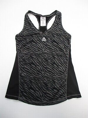 cheap for discount on feet shots of wholesale online ADIDAS CLIMACOOL CLIMA365 Techfit Black Tank Top with Gray ...