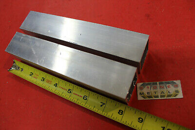 """2 Pieces 1-1/2""""x 1-1/2""""x 1/8"""" Wall x 8"""" Long ALUMINUM SQUARE TUBE 6063 T52"""