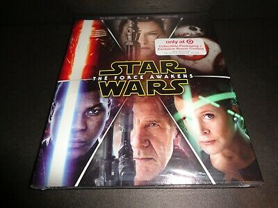 STAR WARS THE FORCE AWAKENS-Target Excl Collectible w/ Bonus Content-BLURAY +DVD