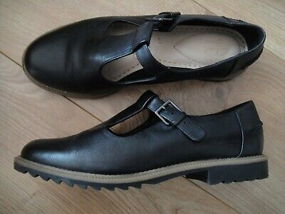 37032452a14f7 Clarks Griffin Mia Black Leather Mary Jane Shoes Size UK 6 E Wide Fit