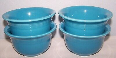 New Fiestaware Set Of 4 Peacock Bouillon Bowls Fiesta Retired Color
