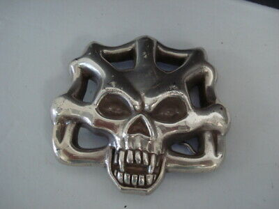Vintage Metal Skull Belt Buckle