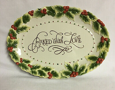 Fitz And Floyd Christmas Cookie Platter ~New~  #21036