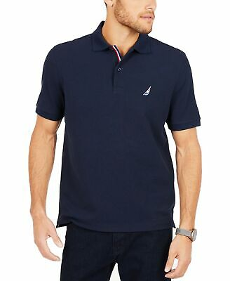 acea630a1 Nautica NEW Blue Navy Mens Size 2XL Racer Embroidered Logo Polo Shirt $49  #745