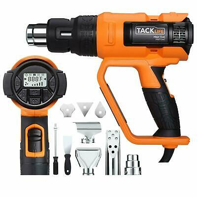 Tacklife HGP72AC 1700W Heavy Duty Heat Gun HT 1202℉ with Large LCD Display, Vari