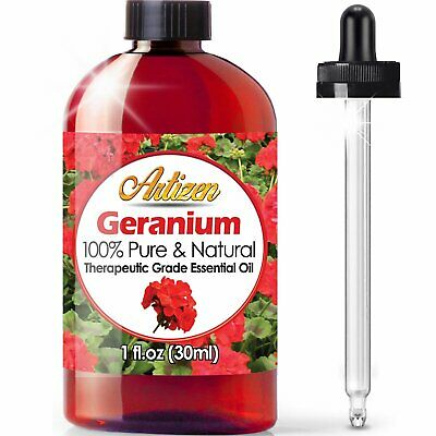 Artizen Geranium Essential Oil (100% Pure  Natural - Undiluted) Therapeutic Gra