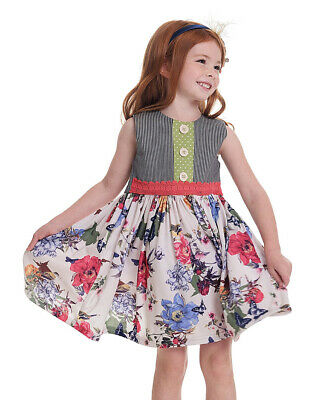 NWT girls PERSNICKETY floral birds butterfly MAGGIE dress Wildflowers sz 3