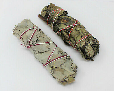 2 Pack White Sage & Yerba Santa Sage Smudge Sticks (Cleansing, Smudge Bundle)