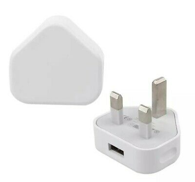 Fast Single Port USB Charger 3 Pin UK Mains Wall Plug Adapter For Phones Tablets
