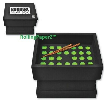 New Buddies Bump Box CONE Filler Loads 34 Pre-Rolled King Size Raw Cones at Once