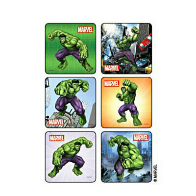 25 Incredible Hulk Classic STICKERS Party Favors for Birthday Loot Treat Bags