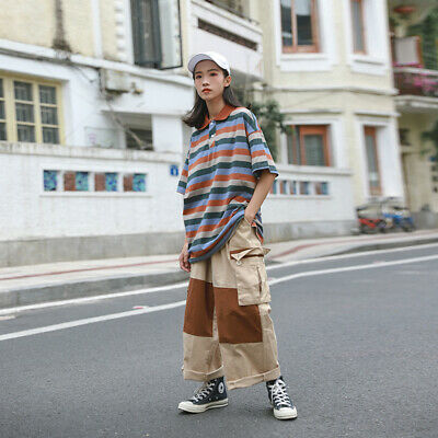 Womens/Mens Long Wide Mid Waist Pants Casual Loose Fashion Vintage Comfort Hot