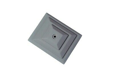 """Linic 15x 4"""" x 3"""" Grey Plastic Fence Post Top Cap Finial Rot Proof UK Mde GT0055"""