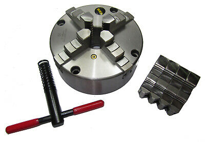 Rdgtools 200Mm 4 Jaw Self Centering Lathe Chuck Int / External Jaws Front Mount