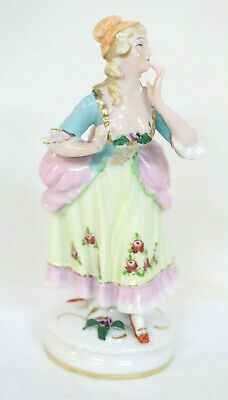 Blushing Beauty German Porcelain Figurine Hand Painted