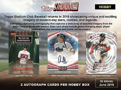 2019 Topps Stadium Club Baseball Factory Sealed Hobby Box Pre-sale
