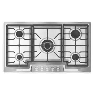 """Empava 36"""" Stainless Steel 5 Italy Sabaf Burners Stove Top Gas Cooktop"""