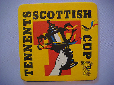Beer Bar Coaster ~*~ TENNENTS Wellpark Brewery, Glasgow, SCOTLAND ~ Scottish Cup