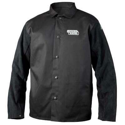 Lincoln Electric K3106 Traditional Split Leather Sleeved Welding Jacket, XL